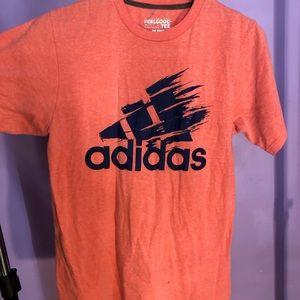 Adidas Climate Big Logo Refreshe Orange T shirt